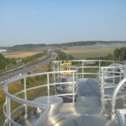 Raw material storage silos
