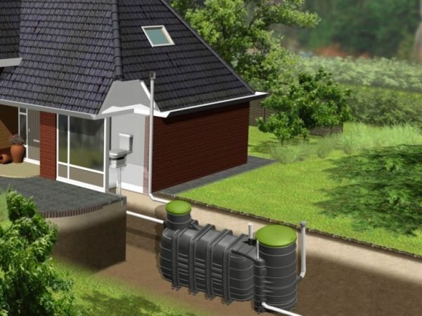 Système de traitement des eaux usées rotomoulage
