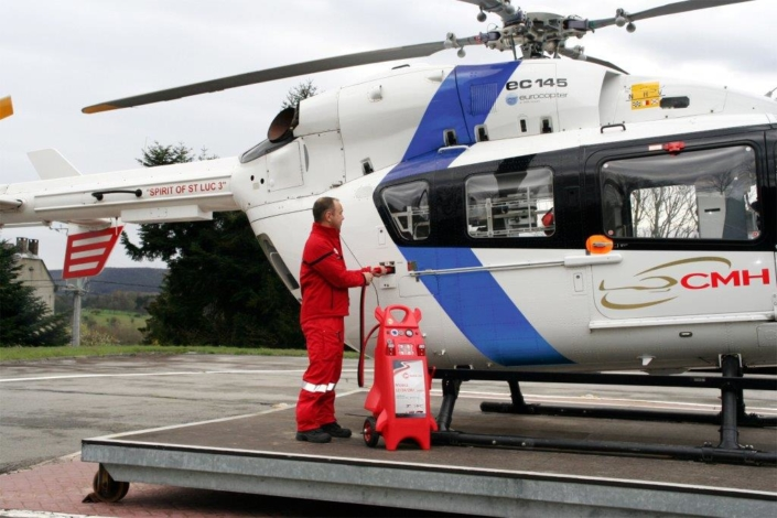 Booster plastique hélicoptère