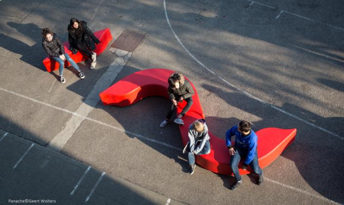Plastic-bench-school