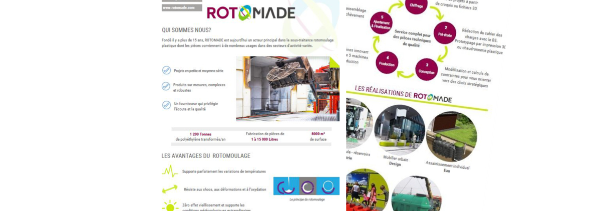Brochure commerciale verso Rotomade